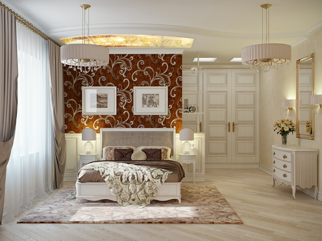 white elegant bedroom design idea