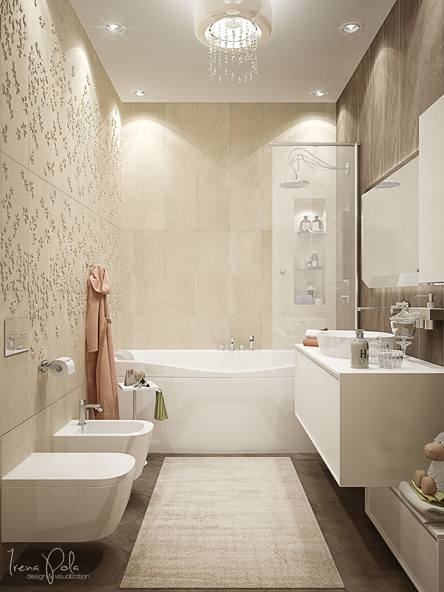 Luxury Bathroom Decorating Ideas With Beautiful A
