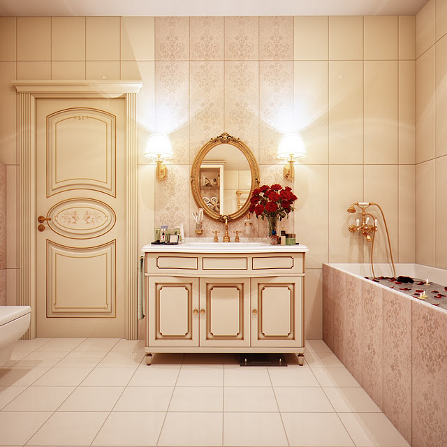 beige modern bathroom