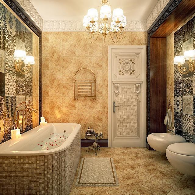 modern vintage bathroom