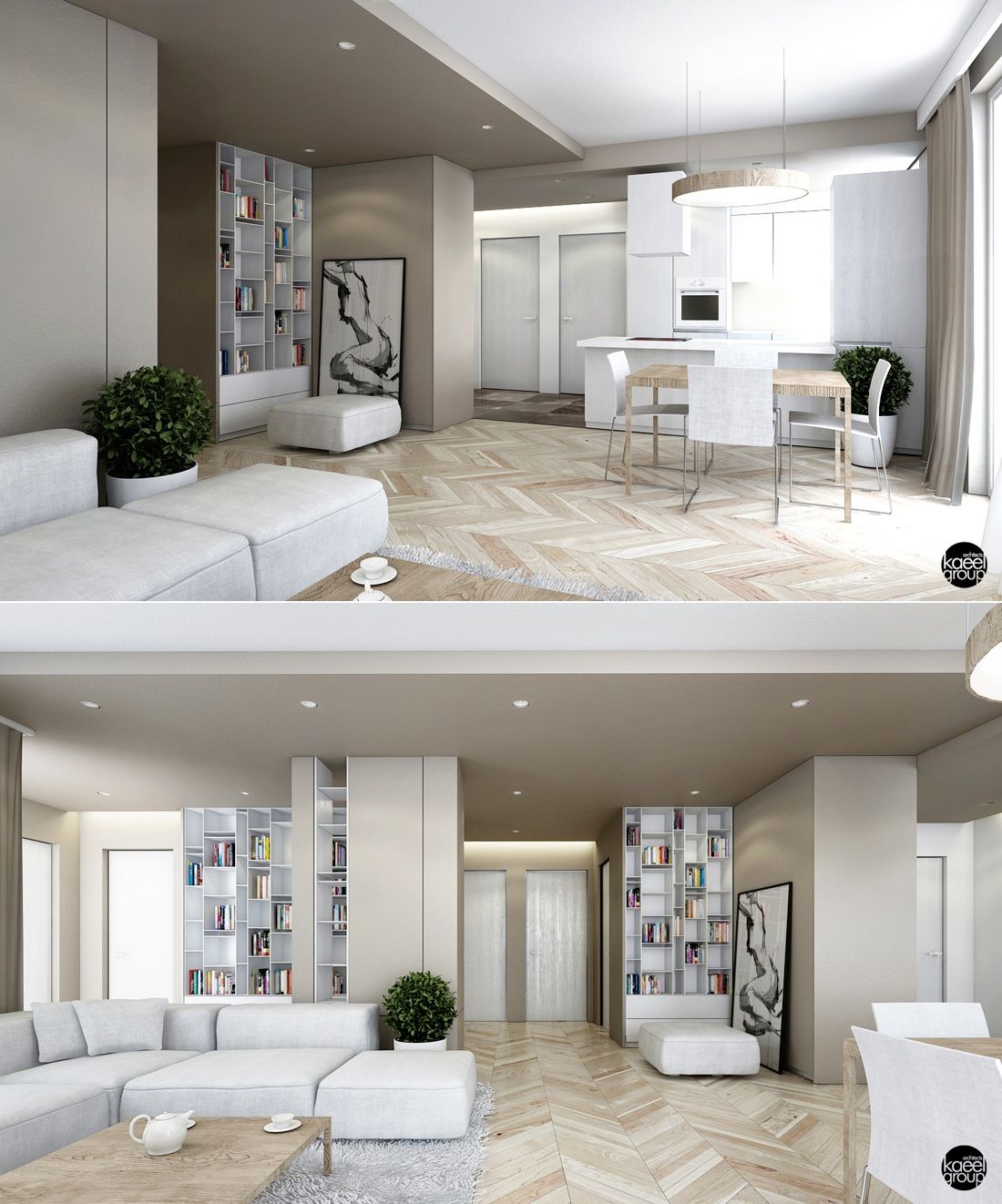 white modern apartment decor