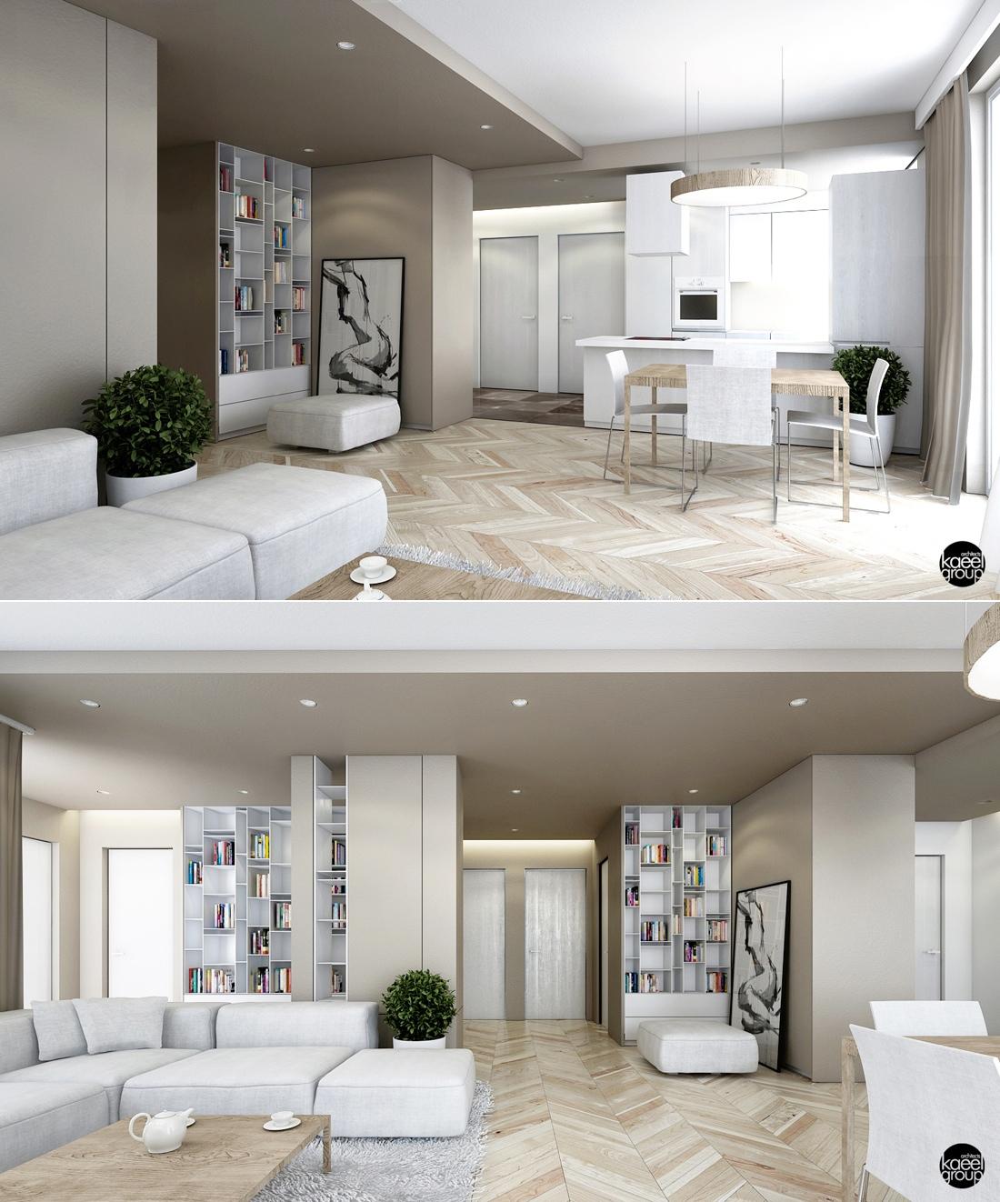 white modern apartment decor