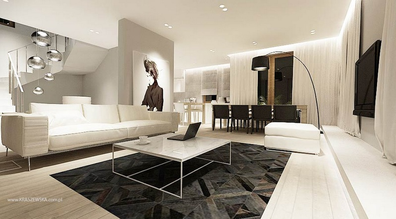 white living room with perfect design