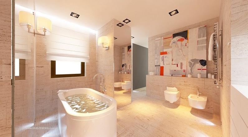 modern tile bathroom design