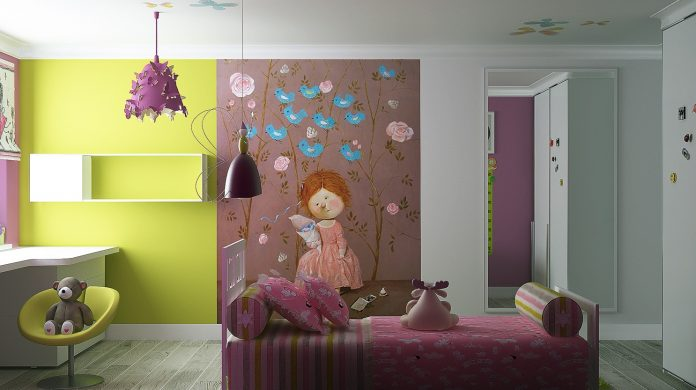 girls room design idea