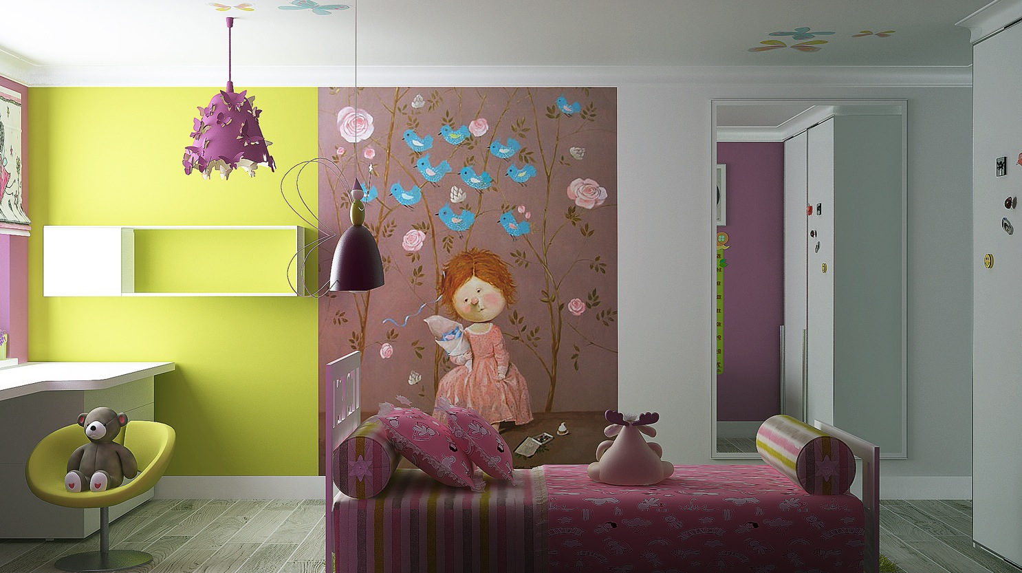 Tero Design wall decor for girls room. Girls Room Designs With Creative Ideas and Soft Color Decor Bring
