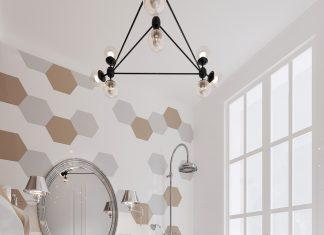 white bathroom backsplash design
