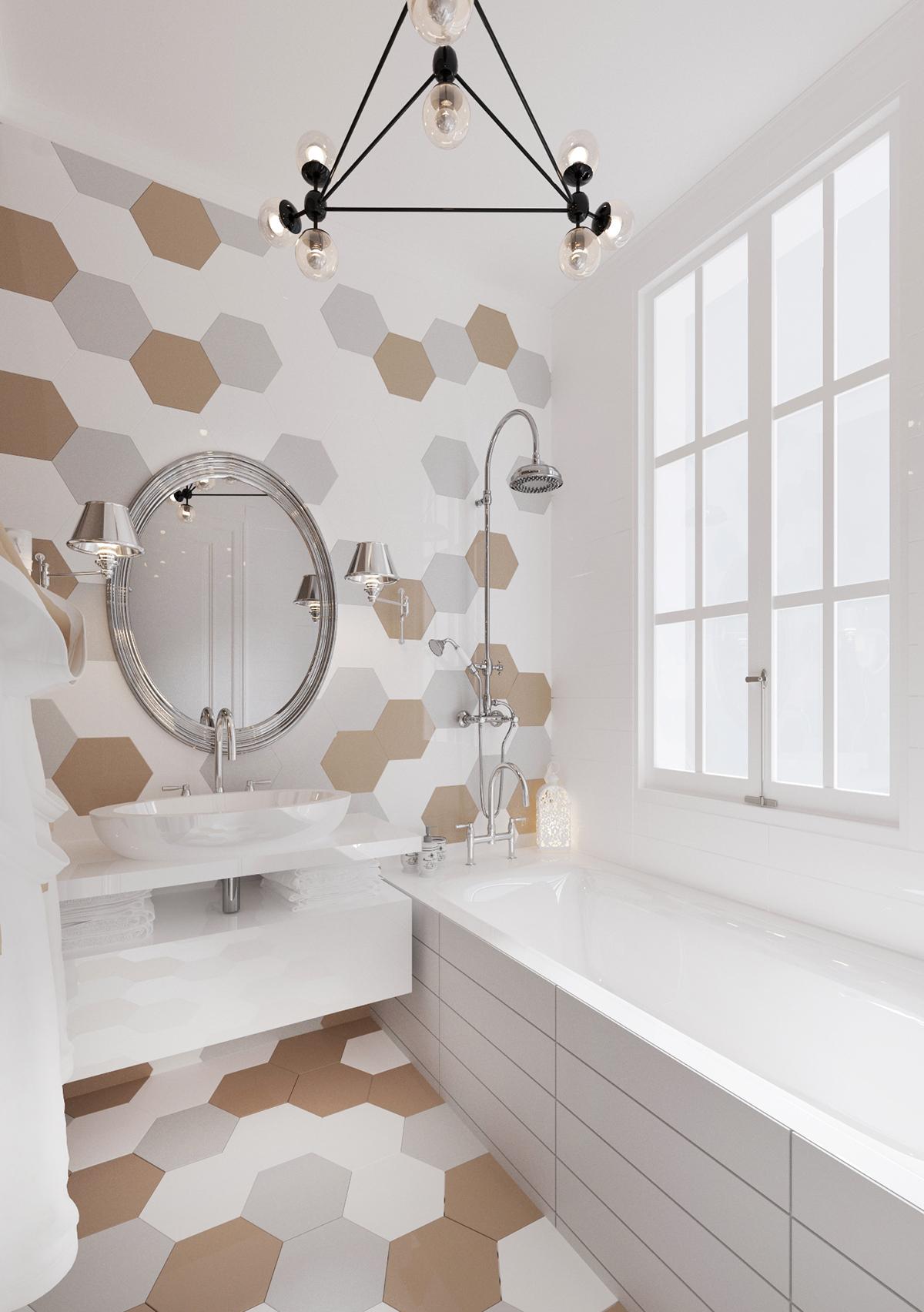Creative Way To Decorate White Bathroom Designs Beautified ... on White Bathroom Design Ideas  id=44469