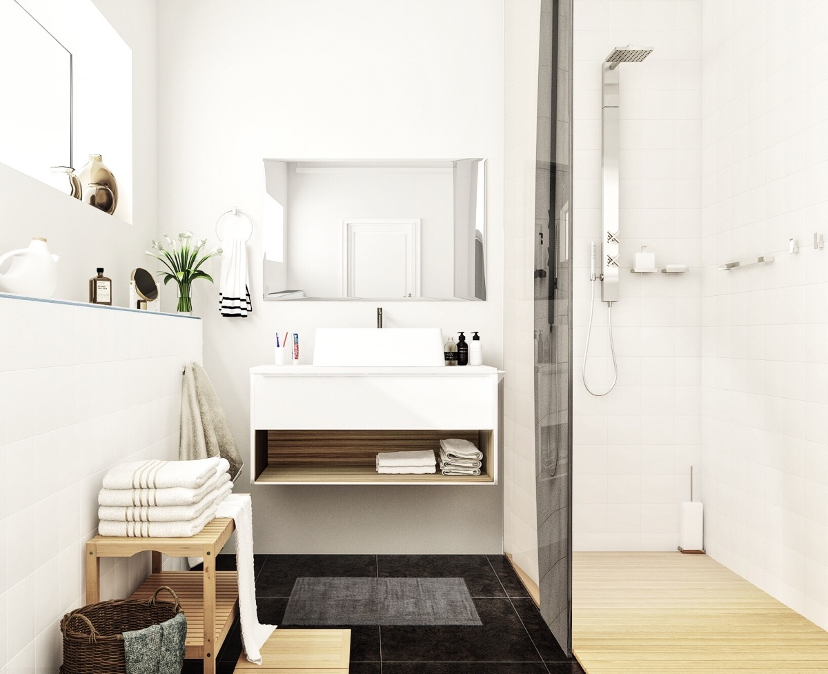 Scandinavian bathroom design ideas with white color shade for Scandinavian design ideas