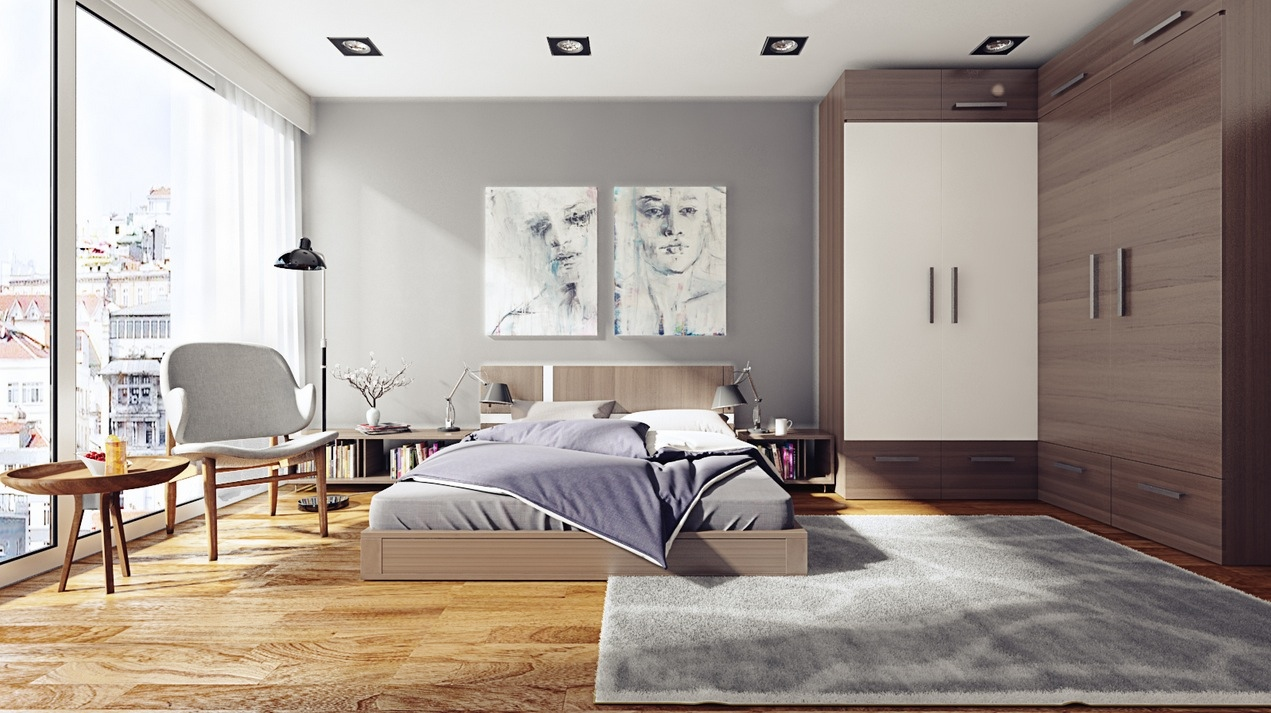 gray modern bedroom design
