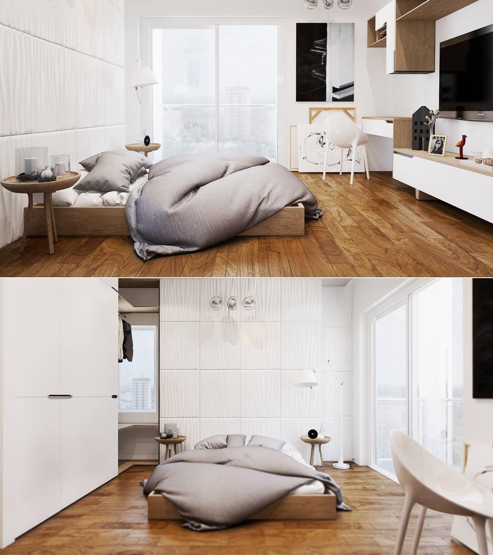 white modern bedroom decor