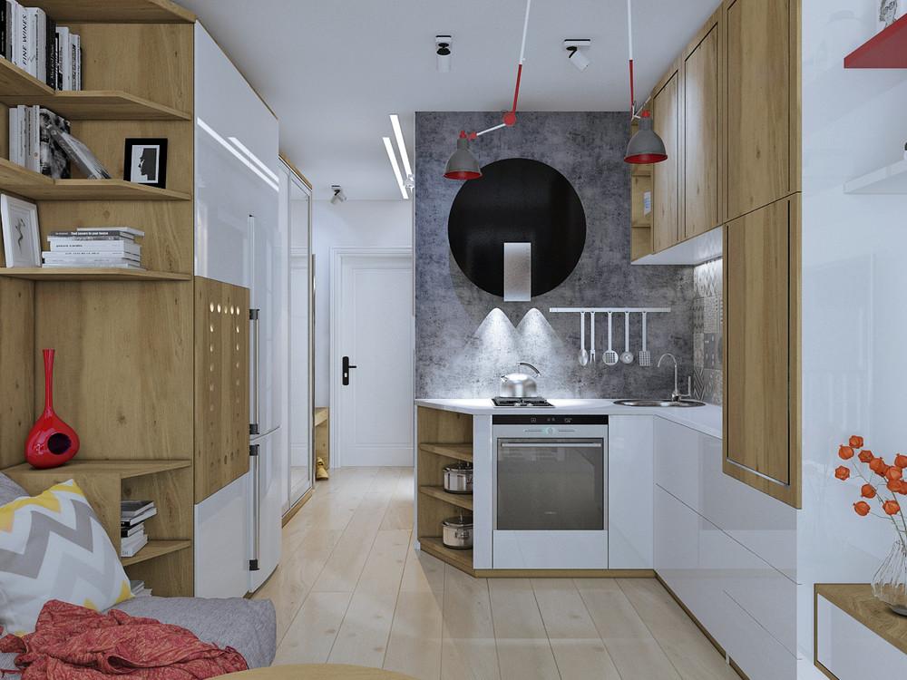 gray backsplash kitchen design