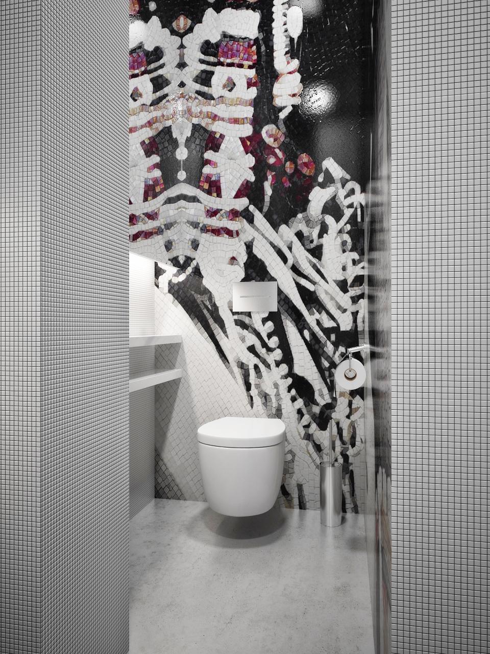 mosaic tile bathroom