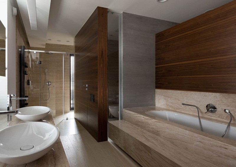 minimalist wooden bathroom design