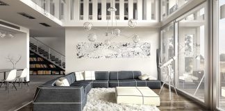 white luxury home design