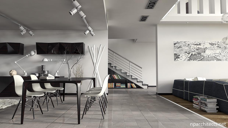 white luxury dining room design