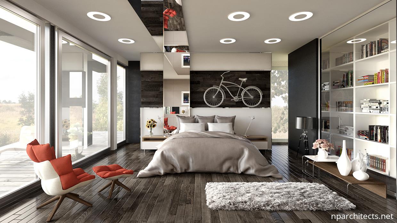 luxury bedroom for home design