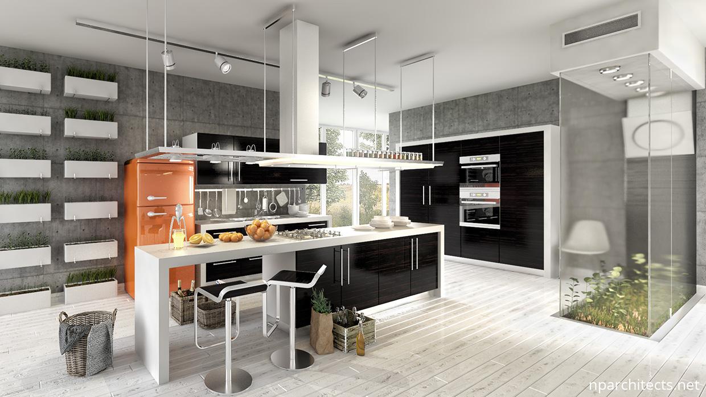 white kitchen home design