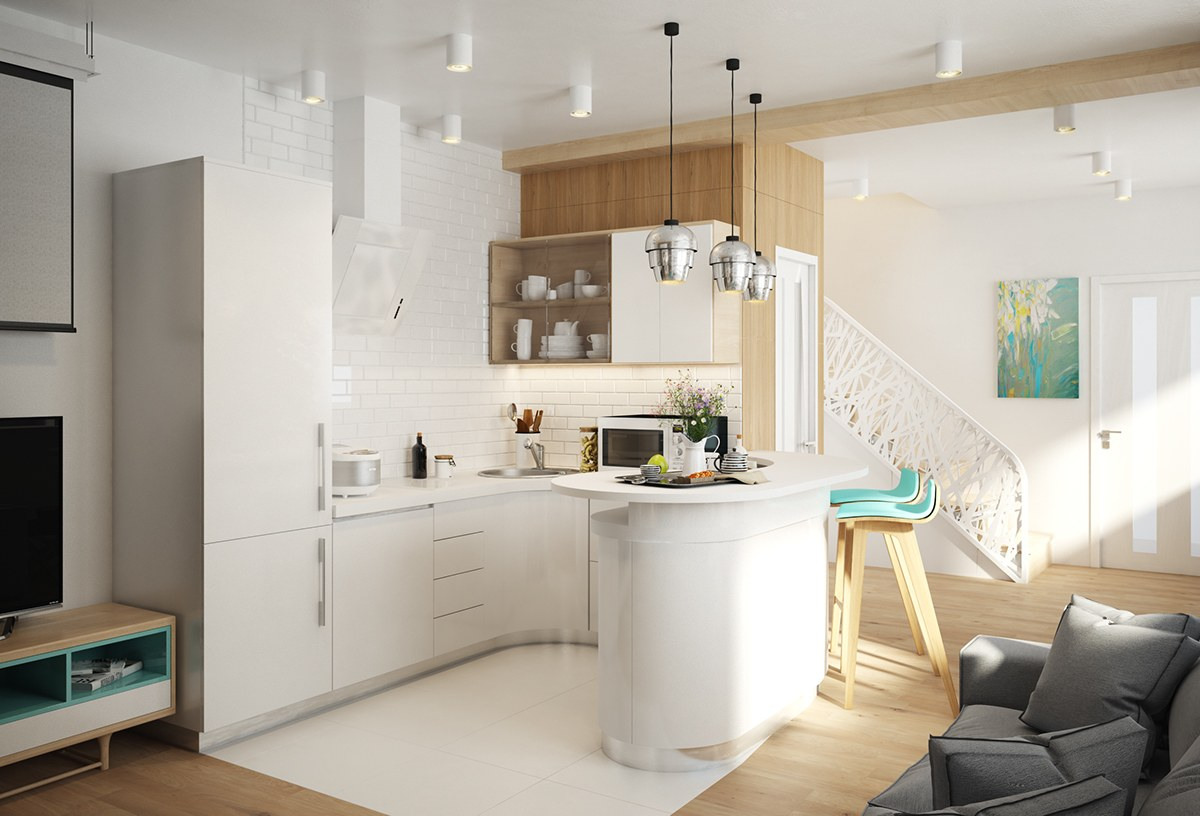 white simple kitchen design