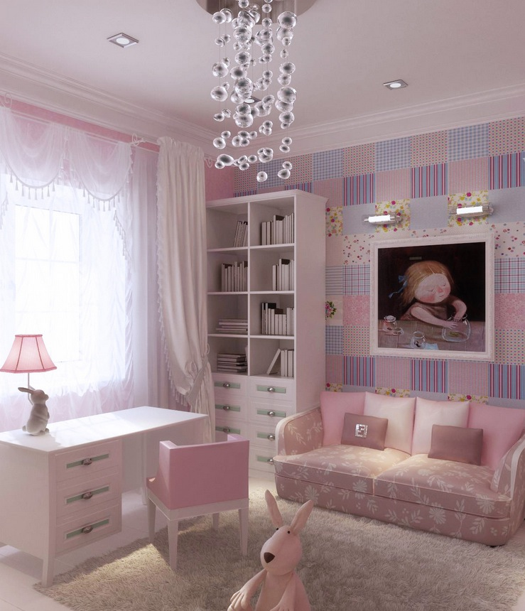 adorable purple girls room