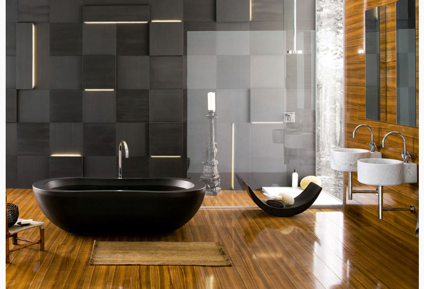 minimalist bathroom with bathtubs