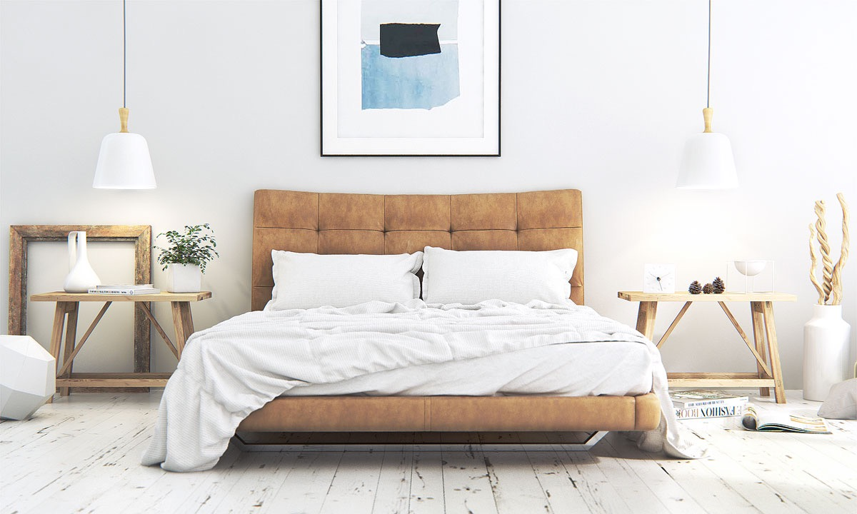 scandinavian bedroom with creative design