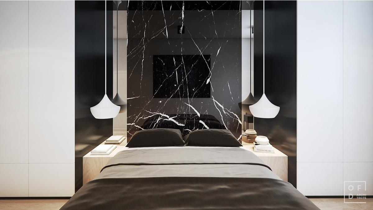 dark bedroom decorating idea