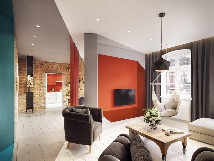 stunning colorful apartment design