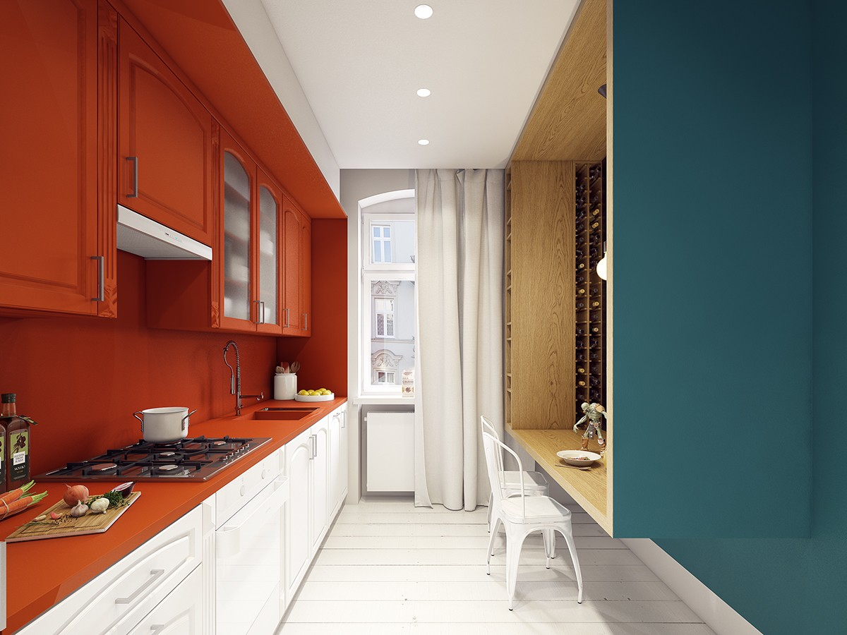 colorful kitchen set