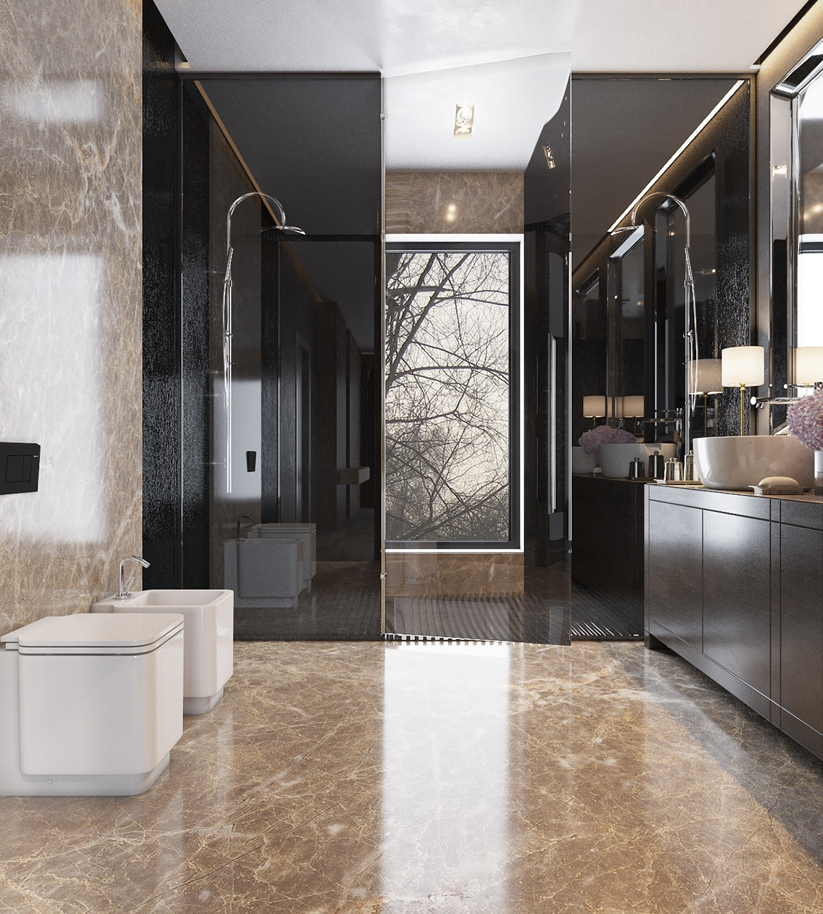 modern and attractive bathroom