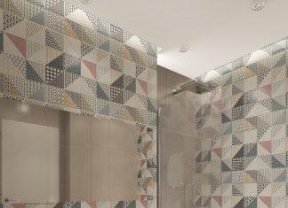 simple bathroom design with backsplash