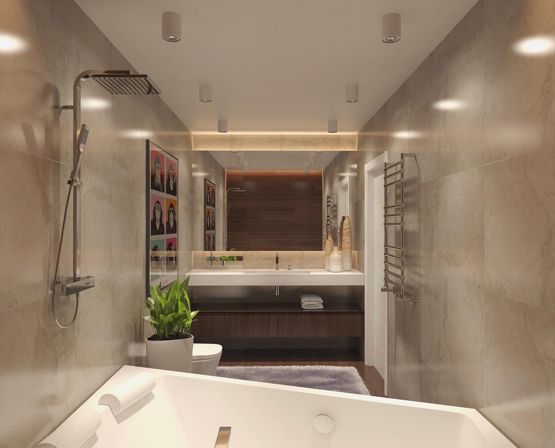 soft color modern bathroom decor