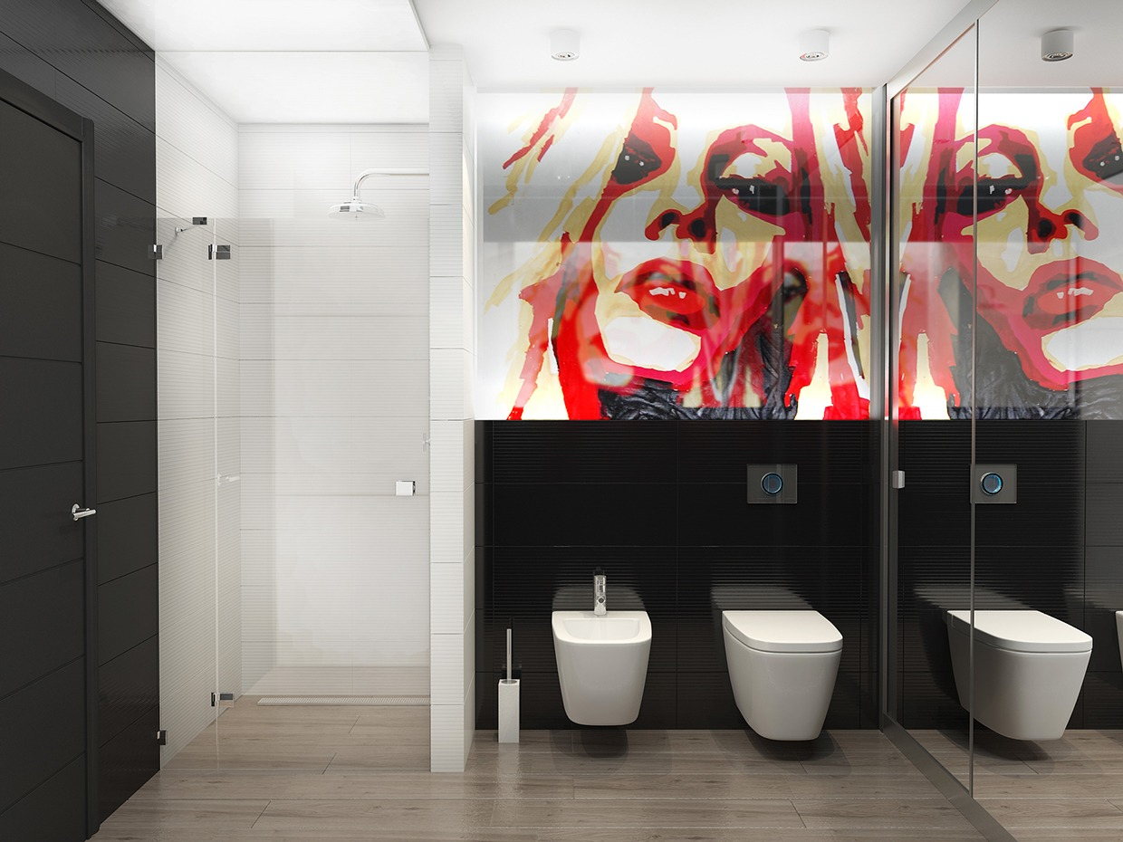 Minimalist Bathroom Designs With Wall Texture Decor Which Looks So Trendy And Stylish Roohome