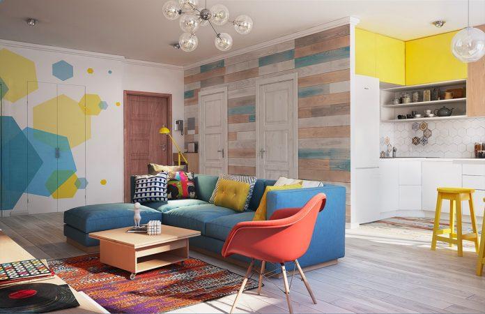 hexagon wall art living room decor