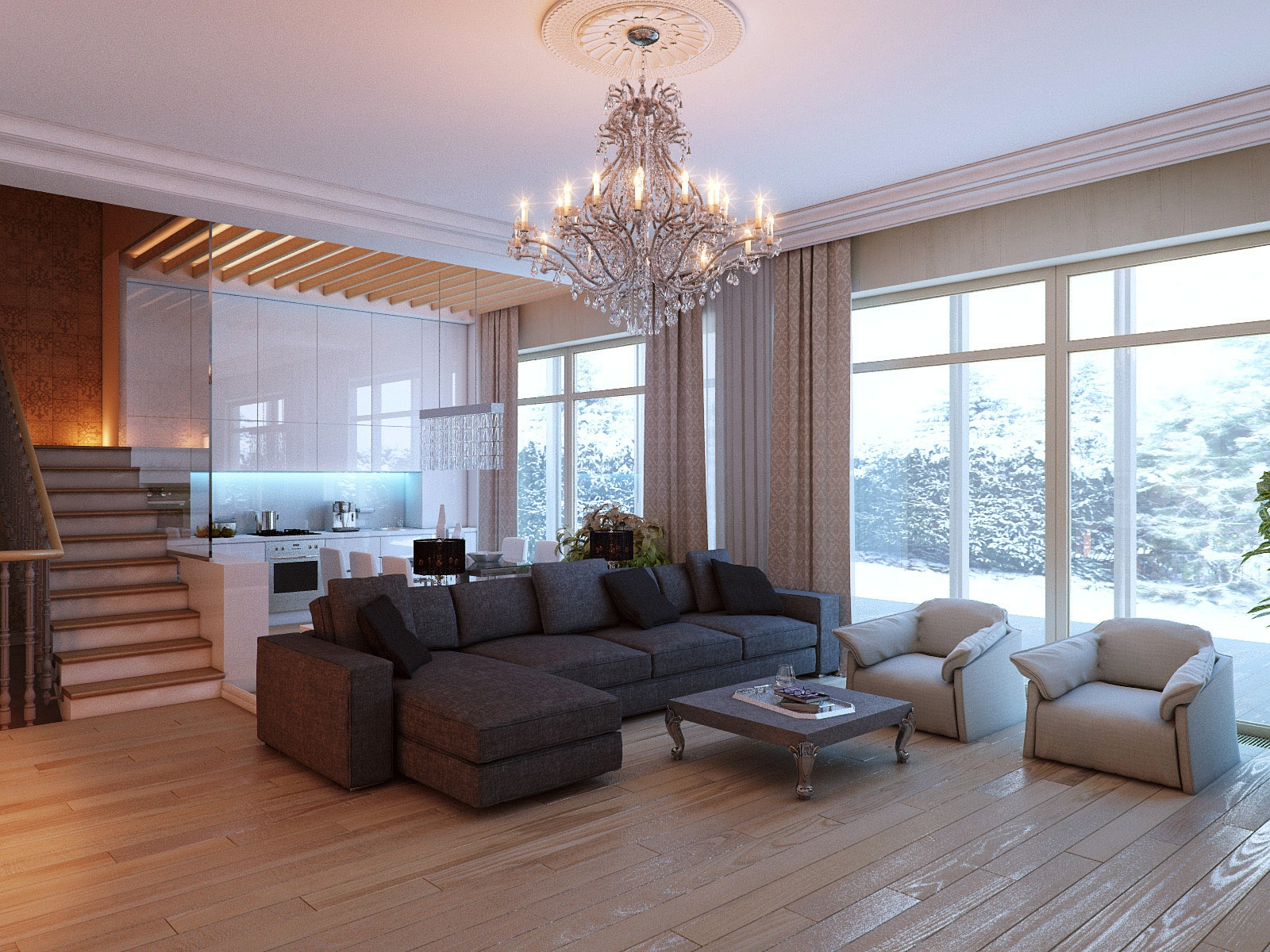 luxurious living room design