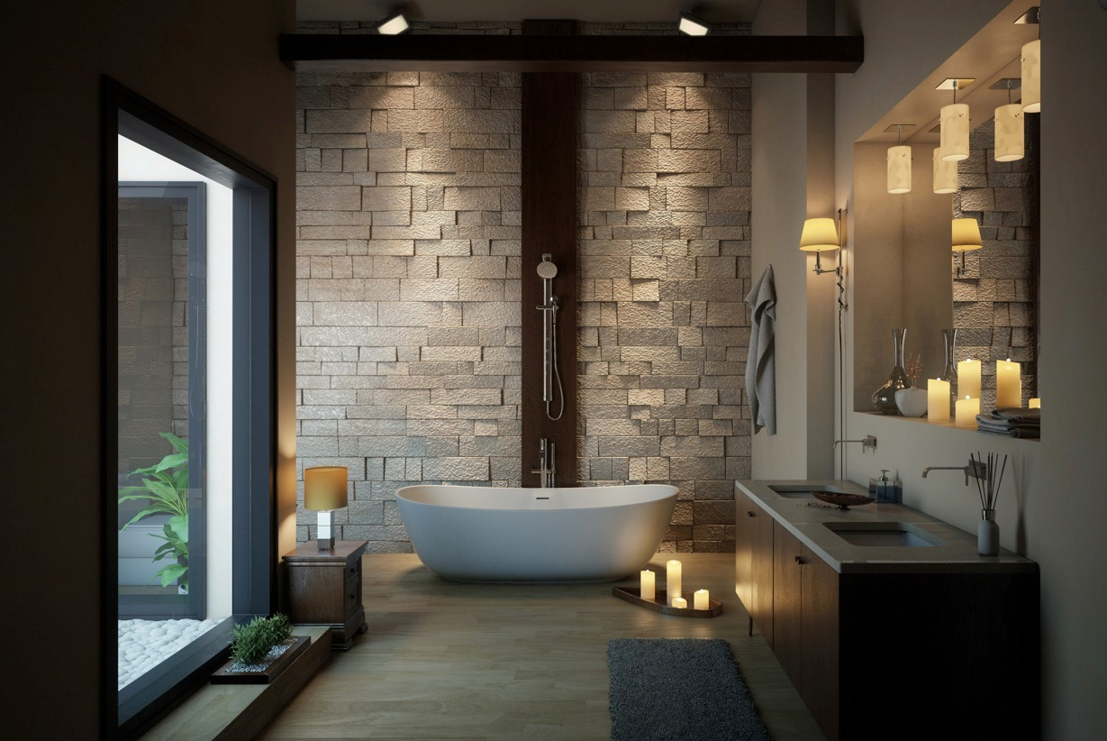 luxury wall texture bathroom