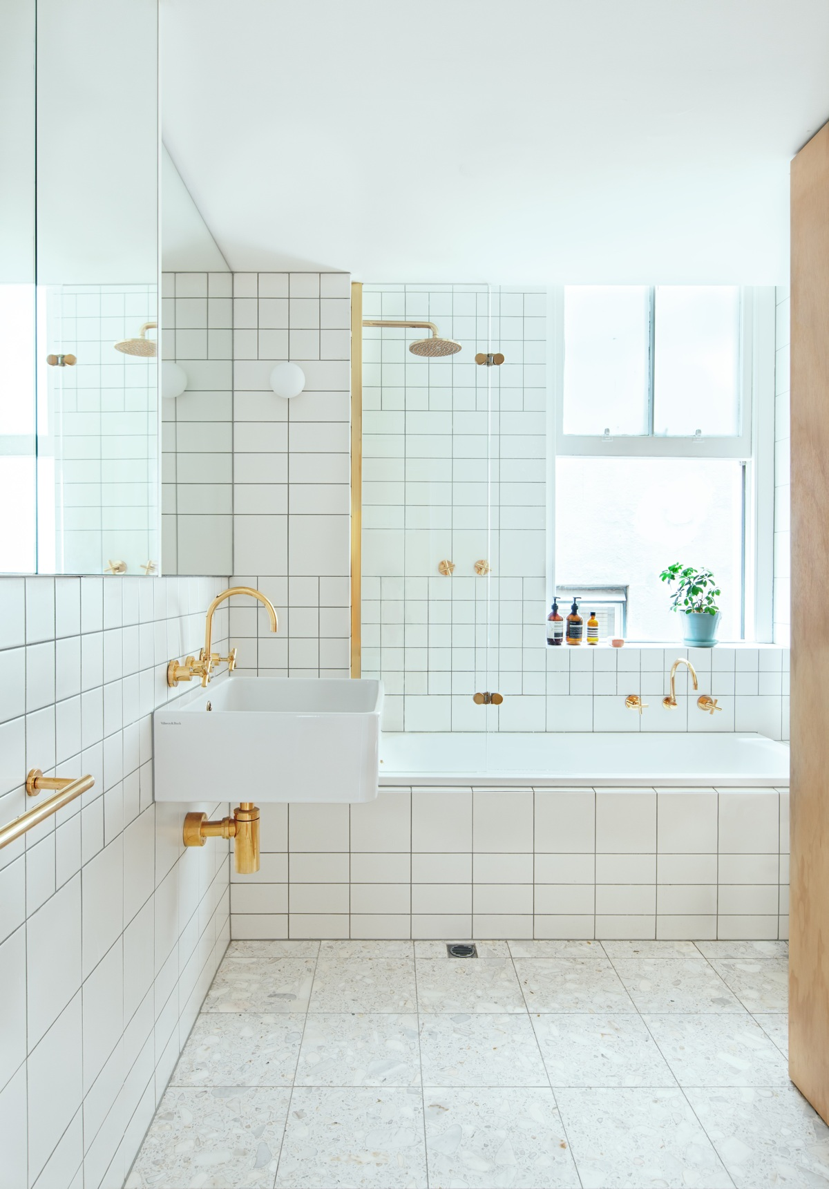 white minimalist bathroom design