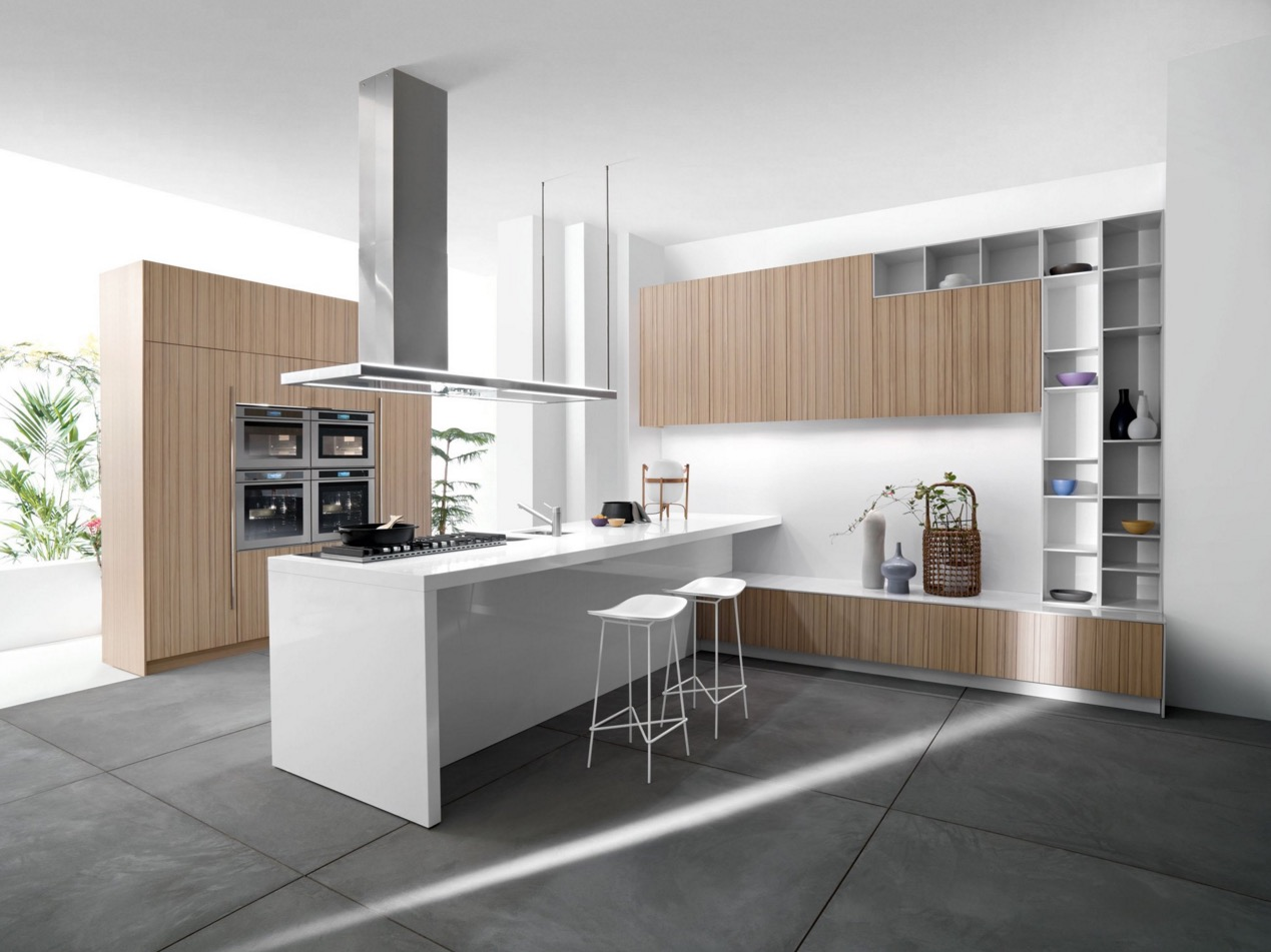 wooden cabinet for modern kitchen