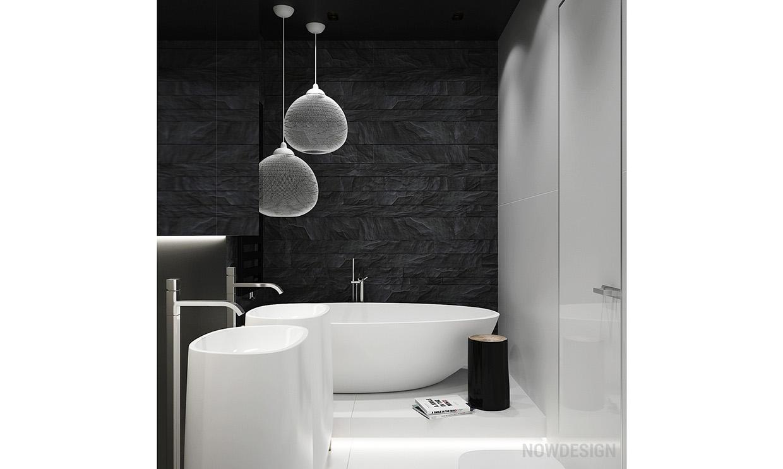 dark and white bathroom design