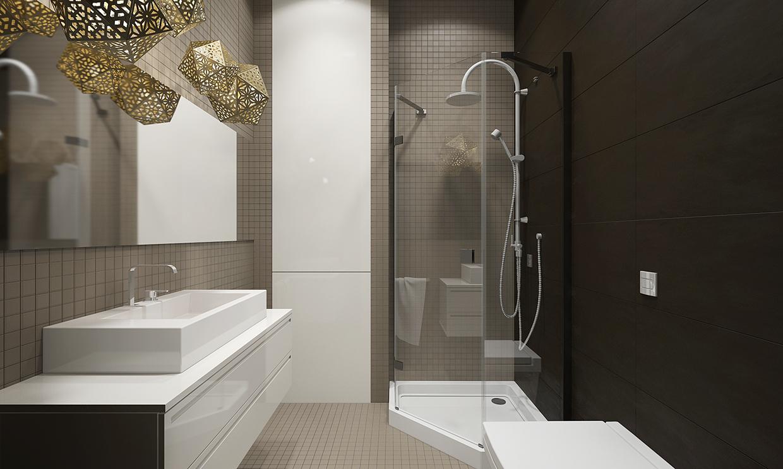 gray tile wall texture design