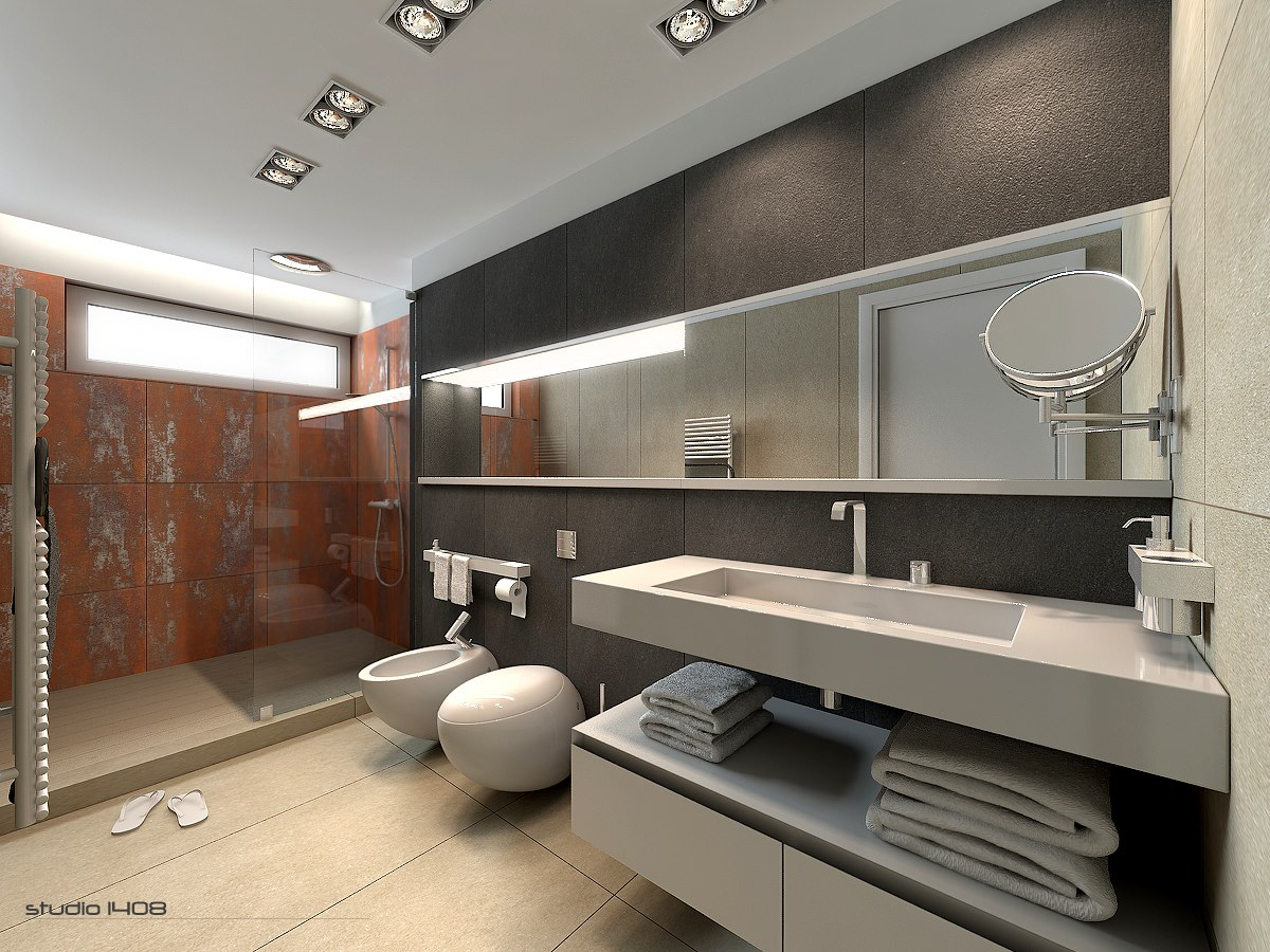 Decorating Minimalist Bathroom Designs Look So Beautiful And Modern With Dashing Backsplash