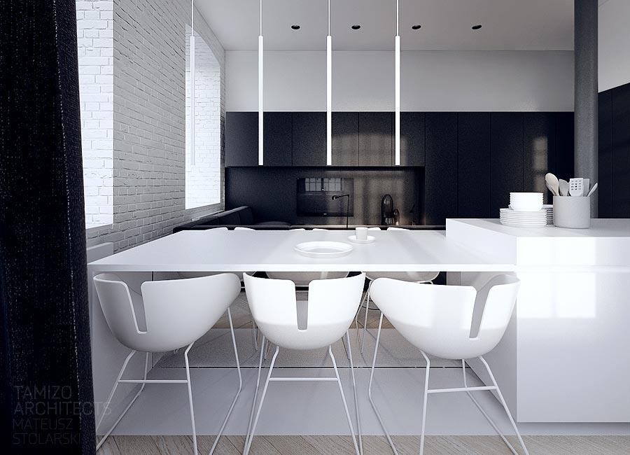 decorating white modern dining room
