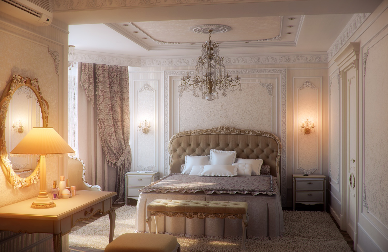 Decorating elegant bedroom designs adding a perfect for Classic design style