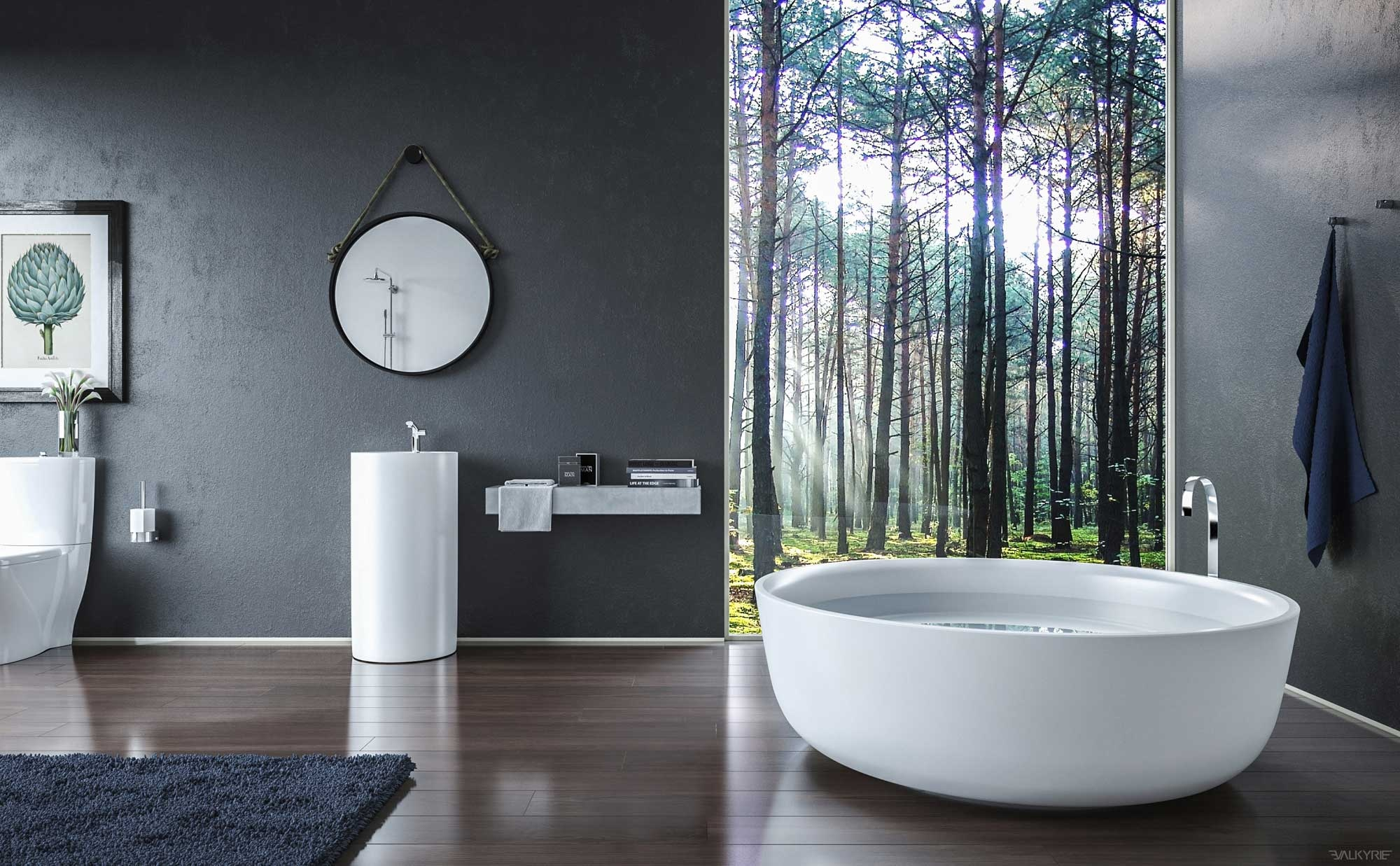 bathroom design with beautiful view