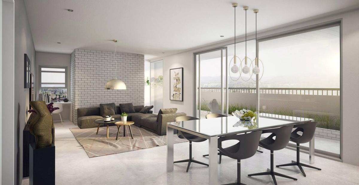 white modern open plan apartment