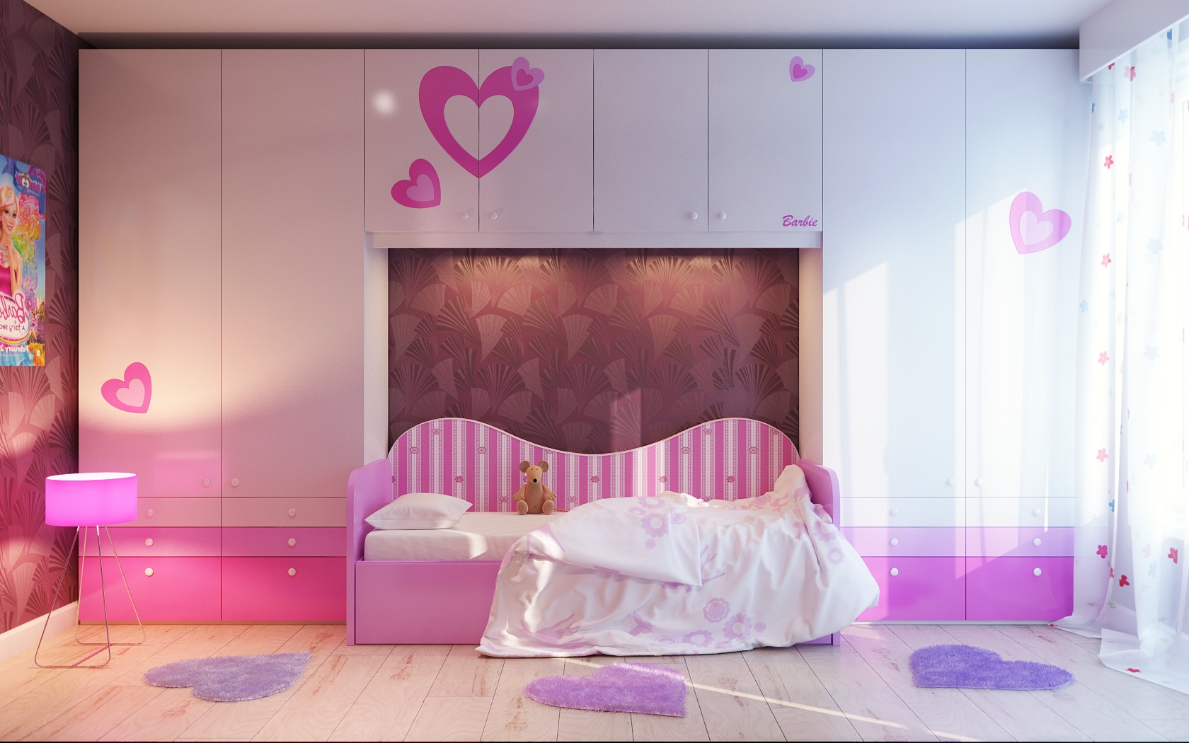 lovely pink girls room