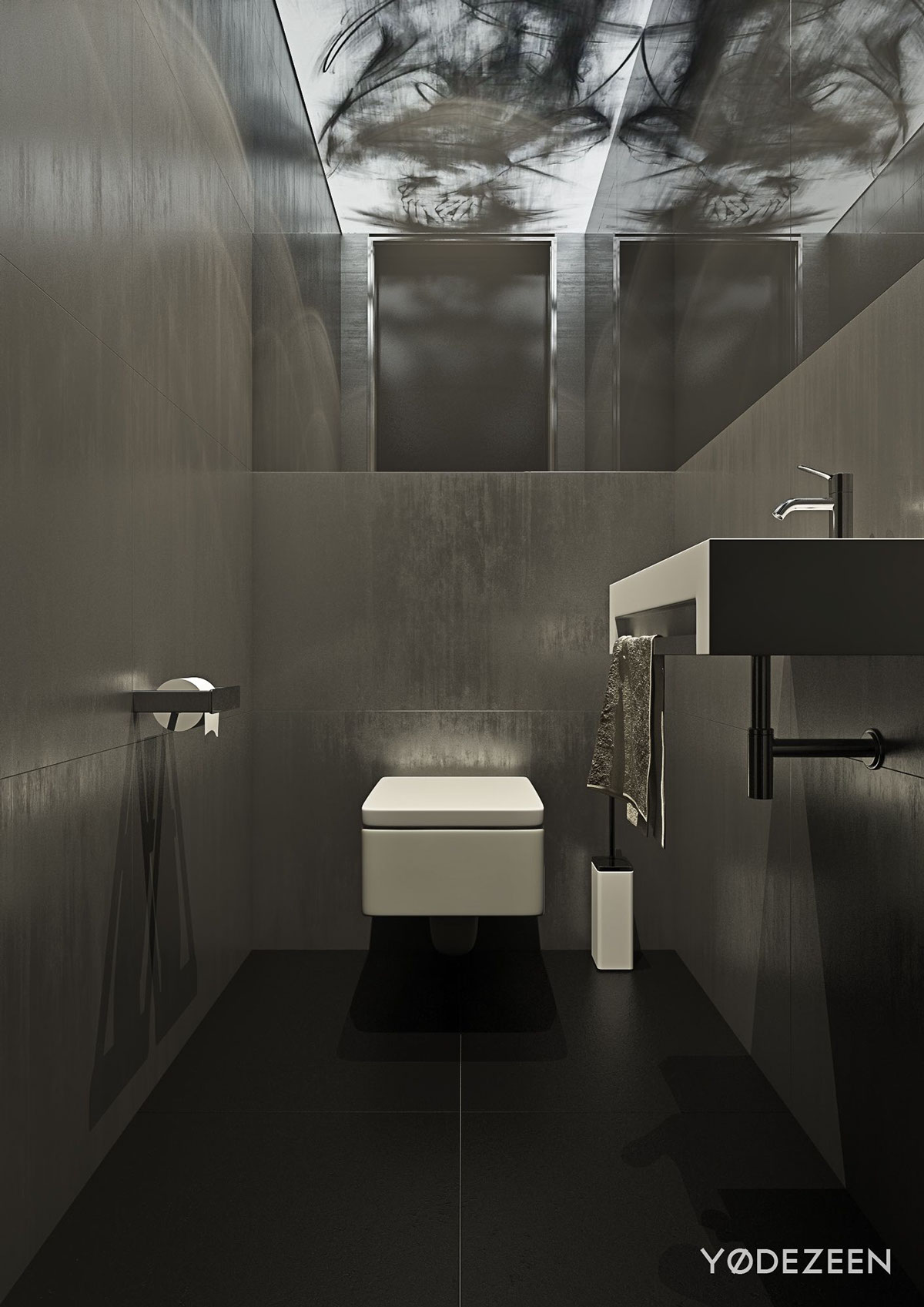 gray modern bathroom design