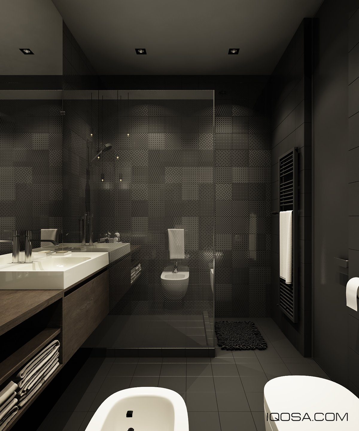 amazing bathroom with glass shower