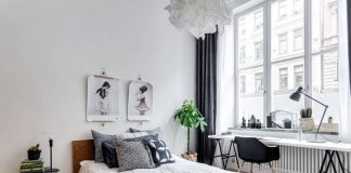 Bedroom interior design with Scandinavian style