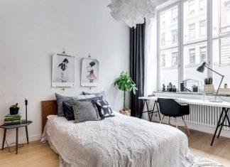 Bedroom interior design with Scandinavian style